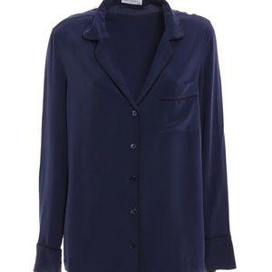 NWT EQUIPMENT Lillian Silk Pajama Shirt Top